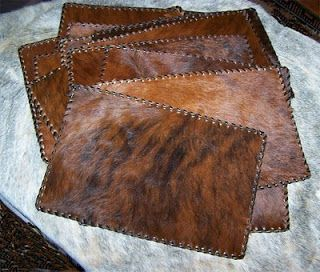 H-M Valley Ranch Store- Western Decor: cowhide placemat cowhide place mat cowhide placemats leather placemat