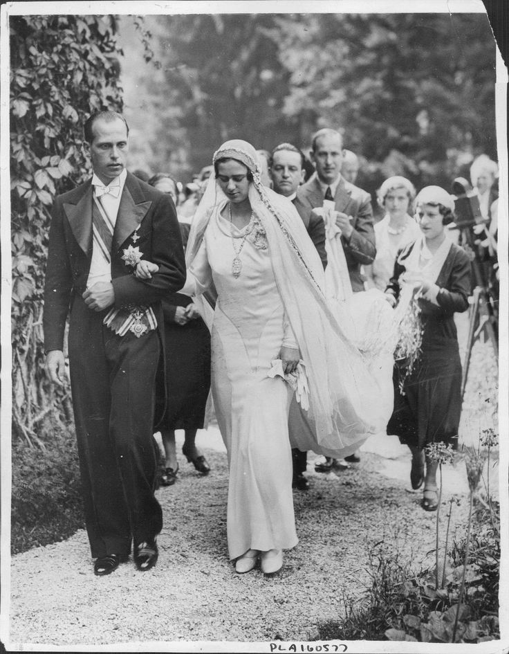 The Princess Ileana of Romania on her wedding day.