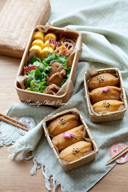 Inarizushi (Tofu Pouches Stuffed with Sushi Rice) Bento 稲荷寿司弁当