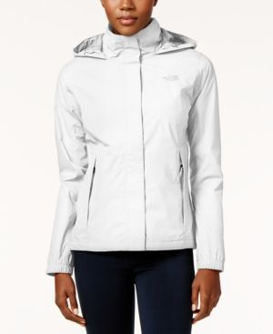 The North Face Resolve 2 Waterproof Packable Rain Jacket - White XXL