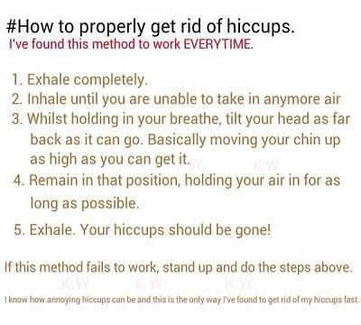 This worked so well, I have tried 11 different ways to get rid of my hiccups and this was the only one that worked!