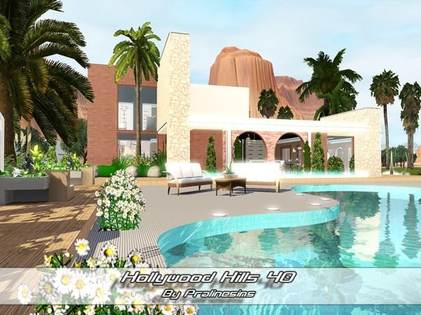 Hollywood Hills 40 House By Pralinesims   Sims 3 Downloads CC Caboodle