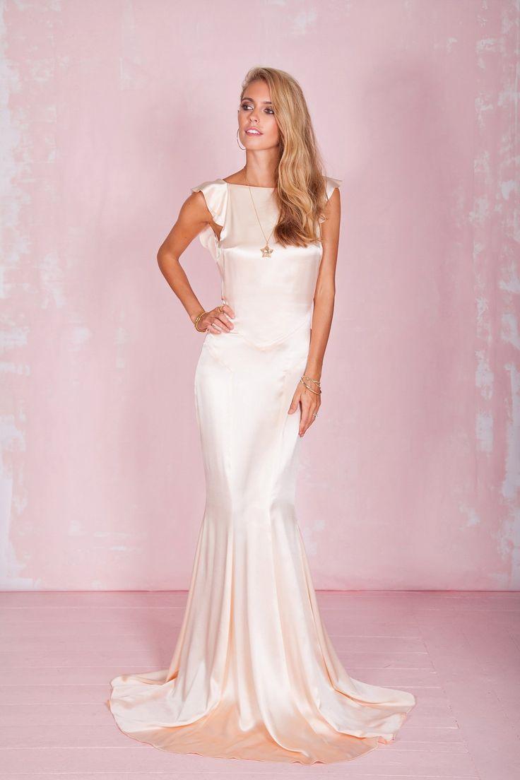 586 best satin to wear images on pinterest satin dresses for Vintage wedding dresses austin