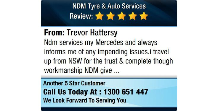 Ndm services my Mercedes and always informs me of any impending issues...