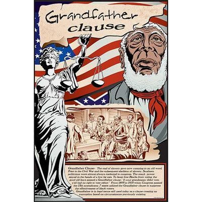 "Buyenlarge 'Grandfather Clause' by Wilbur Pierce Vintage Advertisement Size: 36"" H x 24"" W"