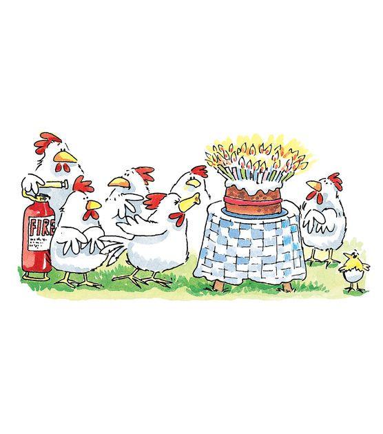 Открытка с днем рождения с курицей, почтовые