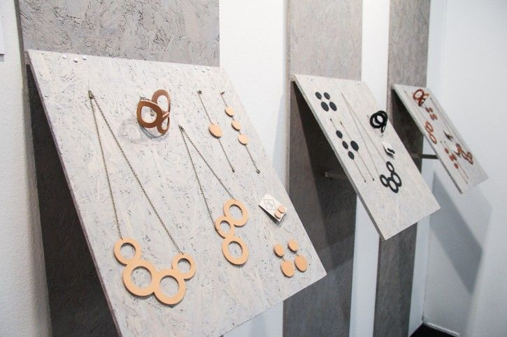 Gorgeous Wiked collection by W+M! #nordicdesigncollective #formex #formex2014 #fair #design #designfair #stockholm #stockhomsmassan #wplusm #jewelry #necklace #bracelet #earrings #leather #chain #elin #natural #black #brown