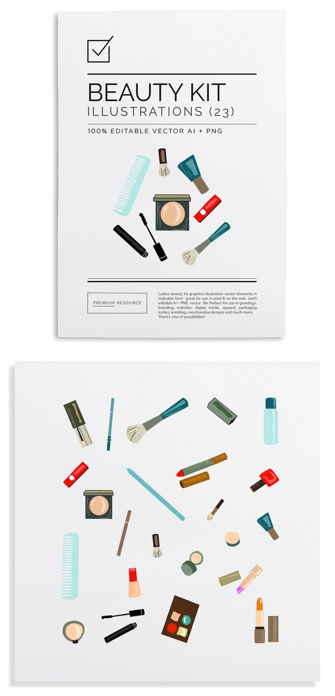 """Ladies beauty kit vector iilustrations & clip art $13.00"" http://83oranges.com/product/ladies-beauty-kit-vector-iilustrations-clip-art/?utm_content=buffer7a86b&utm_medium=social&utm_source=pinterest.com&utm_campaign=buffer | #beauty #clipart #illustration #kit #makeup #women"
