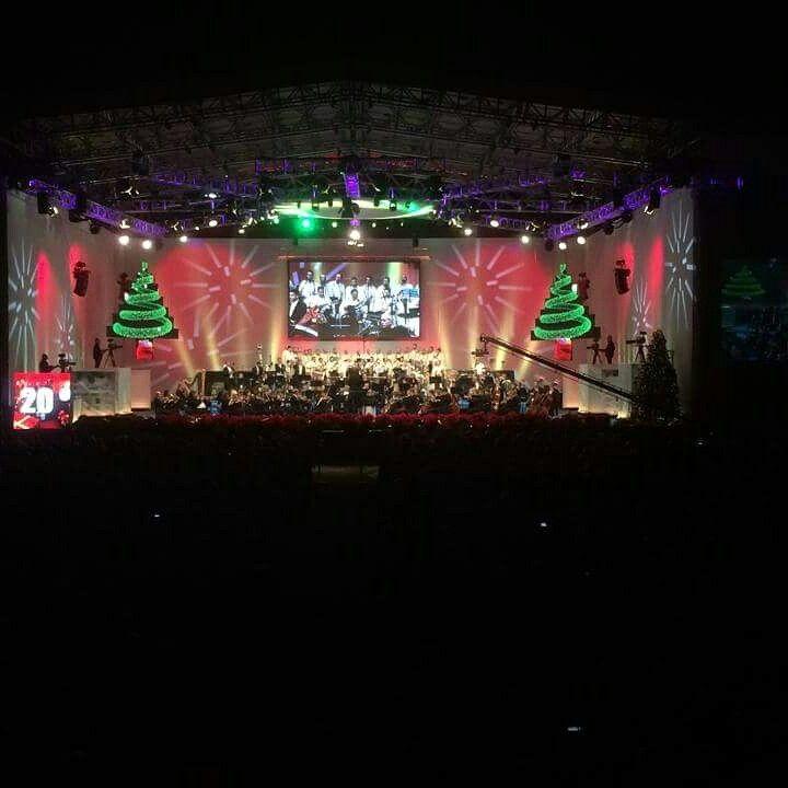 XXI edición Concierto de Navidad Puertos de Santa Cruz de Tenerife.25 de Diciembre 2014 con la Orquesta Sinfónica de   Tenerife y el grupo Los Sabandeños.