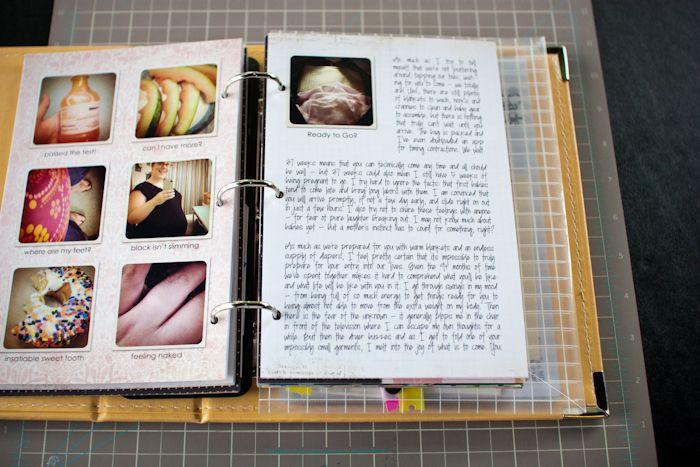 I like Jennifer Wilson's book she made to document her pregnancy