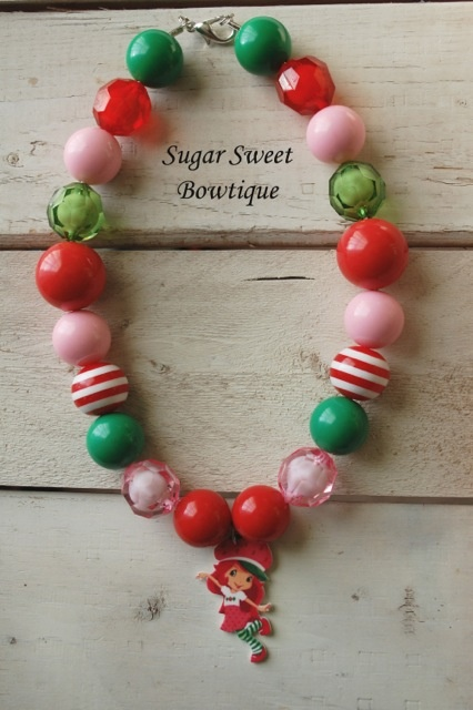 193 best chunky beads images on pinterest chunky beads for Strawberry shortcake necklace jewelry