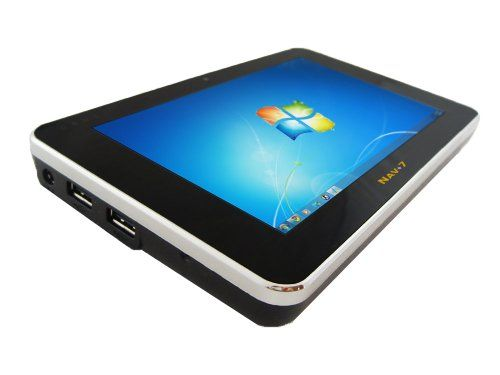 7.0 Windows 7 Tablet PC - 1.6GHz Intel ATOM Z530 - 64GB Solid State HDD - 2GB DDR2 SDRAM - 3G - WIFI - Bluetooth - 1.3MP Webcam - Multi-Touch LCD with Stylus - Swappable Battery and Built-in Mouse Pad 7.0 Multi-touch Capacitive LCD, 1024x600 Resolution. 1.6GHz Intel Z530 Processor, 64GB 1.8 Solid State HDD. 2GB 533MHz DDR2 SDRAM, WIFI 802.11n, Bluetooth 2.1, GSM/HSPA 3G Module. 1.3 MegaPixel Fr... #Netbook_Navigator #Personal_Computer