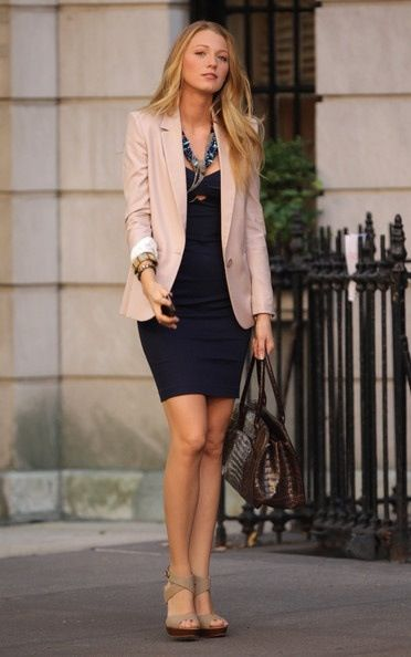 This is pretty simple yet stylish outfit to put together. Cute for work minus the cut out portion of top/dress