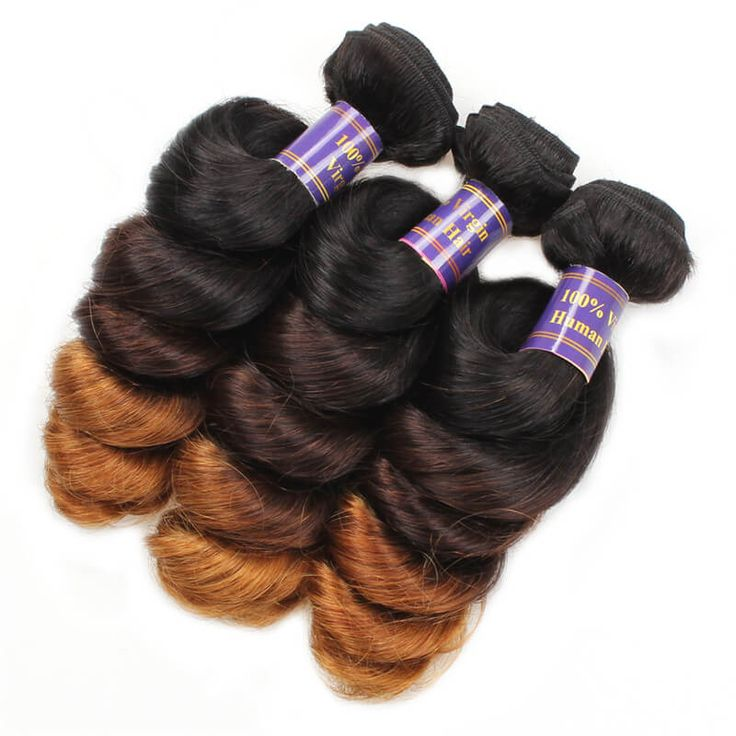【Peruvian Diamond Virgin Hair】sew in weave hairstyles ombre hair colored hair extensions peruvian loose curly remy human hair weave bundles 1b/4/30 light brown ombre hair