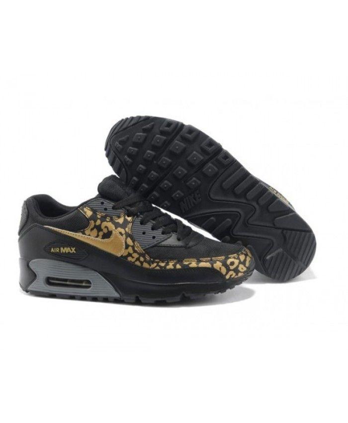 new style 21945 1db11 Mens Nike Air Max 90 2013 Black Gold 6809331-046