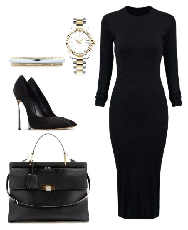 """""""Untitled #8"""" by hongjina on Polyvore featuring Balenciaga, WithChic, Casadei, Tiffany & Co., Rolex, women's clothing, women's fashion, women, female and woman"""
