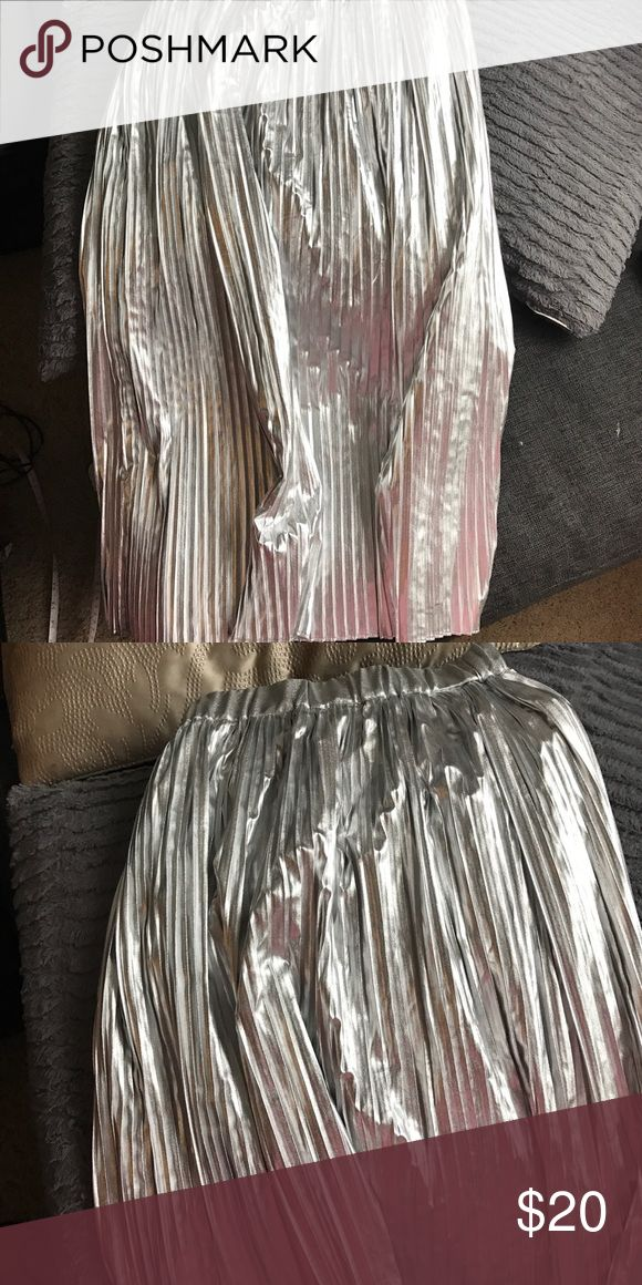 Long silver skirt Long silver skirt h and m Skirts Maxi