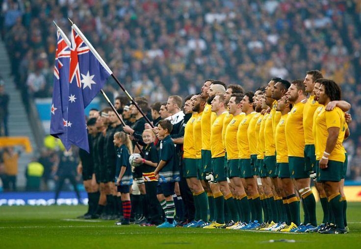 Two nations, one prize @allblacks versus @wallabies #NZLvAUS #RWCFinal #RWC2015