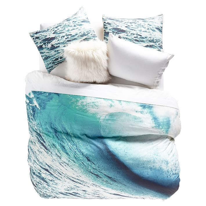 Beach Break Photoreal Duvet Cover + Sham Bring surf-inspired design right into your bedroom. Velvety soft and carefully woven from pure cotton percale, our set is also Oeko-Tex® certified to ensure your sleep space is as safe as it is stylish.