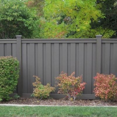 Trex Seclusions 6 ft. x 8 ft. Saddle Composite Privacy Fence Panel Kit-SDPFK68 - The Home Depot