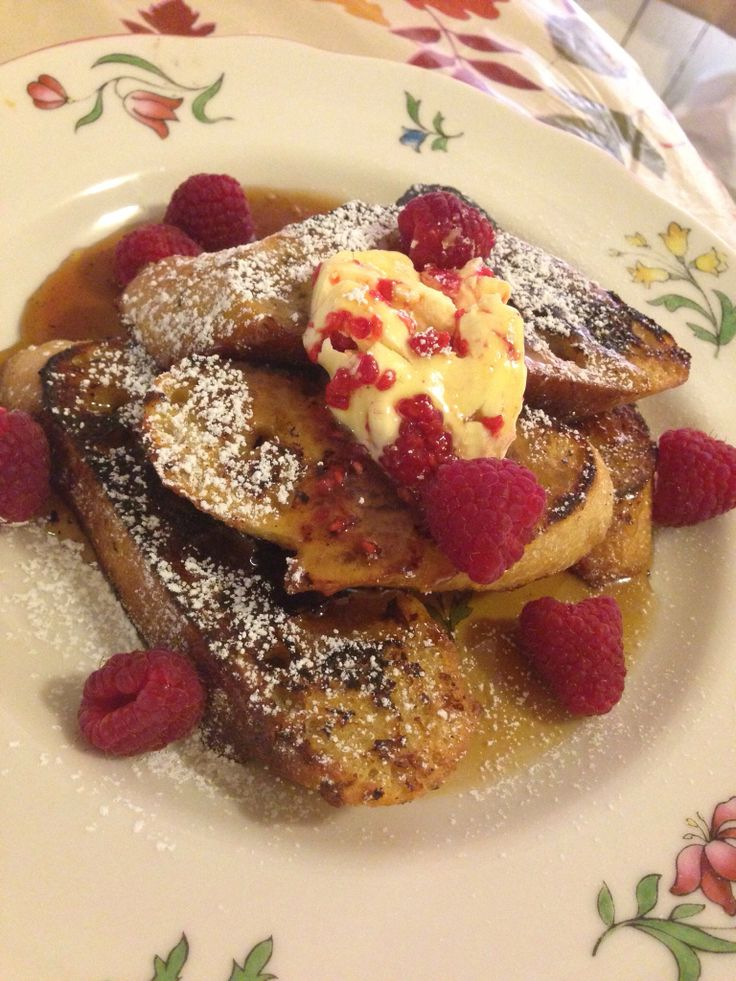 French toast with berry butter | Made by Me | Pinterest