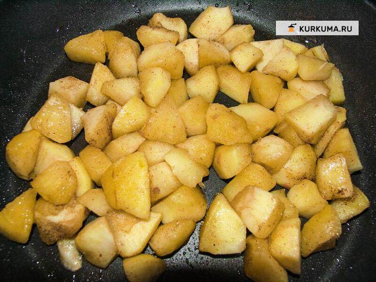 Блинчики с яблочной начинкой (блины без яиц)