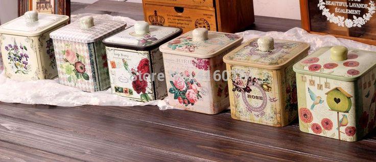 Gratis verzending! Vintage stijl koffie blikken doos met metalen deksel opbergdoos thee canister multi gebruik opslag pot hete verkopen! in stroage doos met vintage style metalen dekselGrootte: 14.3*12.5*12.5cmMateriaal: tin     & van Thuis opslag& organisatie op AliExpress.com | Alibaba Groep