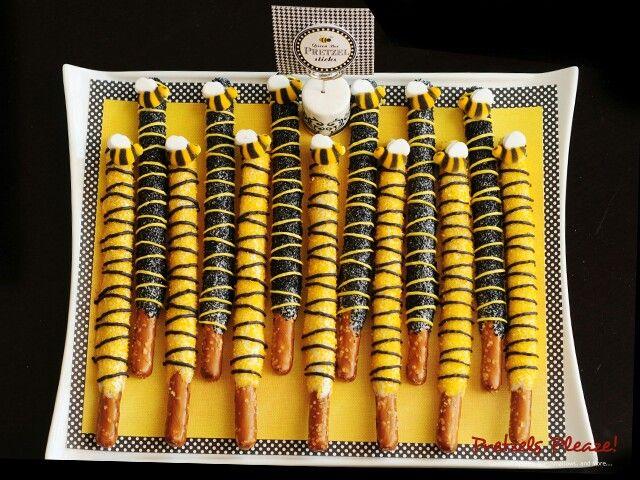 Bee pretzels