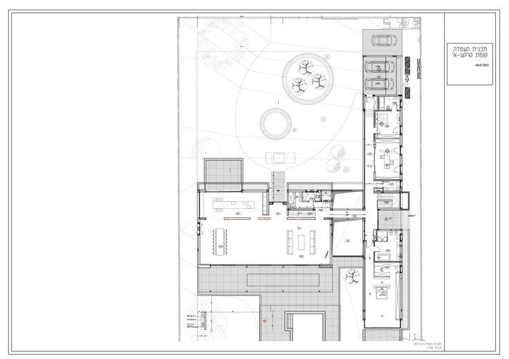 Image 34 of 37 from gallery of House in Rishpon / Studio de Lange. Ground Floor Plan