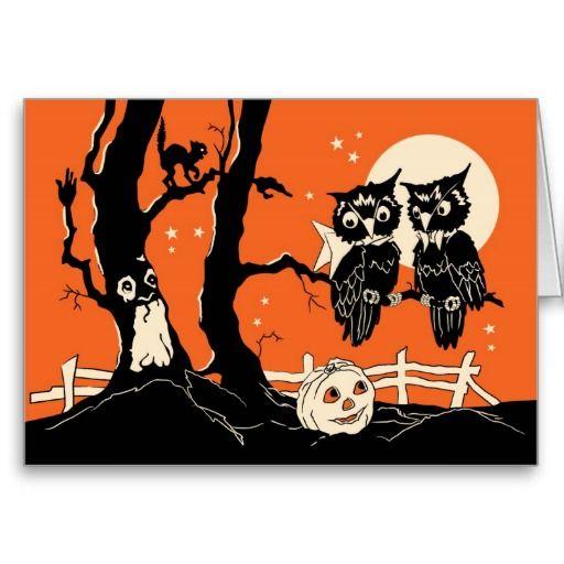 happy halloween owls