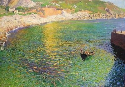 Dame Laura Knight -- Lamorna Cove