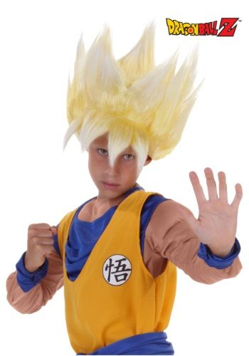 Gold hair is what let's you know that things are about to get real in an episode of Dragon Ball Z! This Child Super Saiyan Goku Wig let's you know that things are about get real in your home.