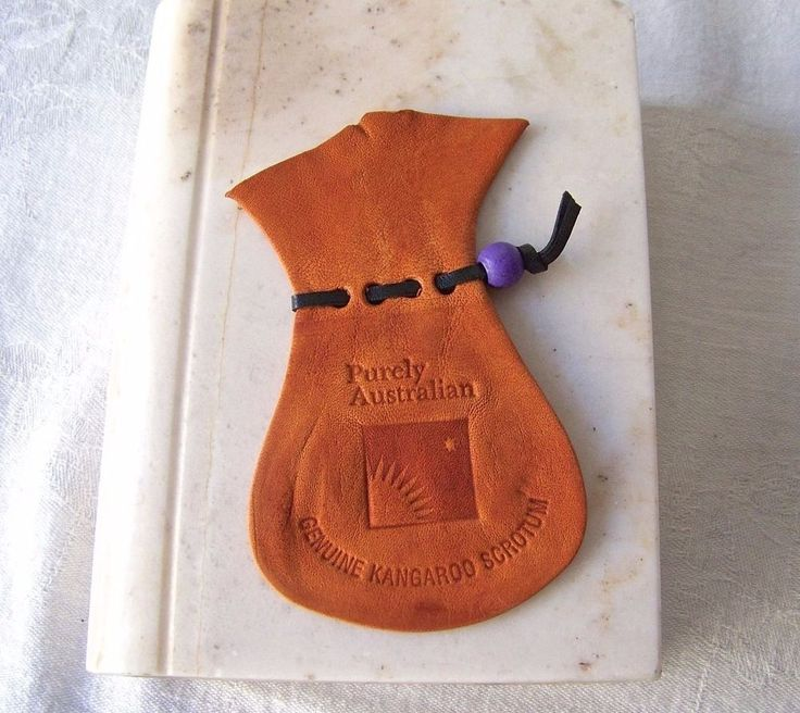 Kangaroo Coin Pouch Leather Scrotum