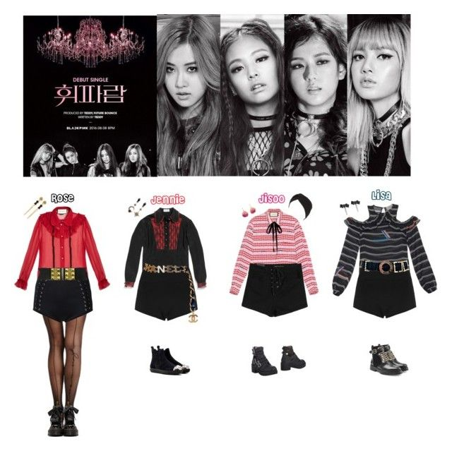 """""""BLACK PINK - WHISTLE❤️"""" by mabel-2310 ❤ liked on Polyvore featuring Preen, Gucci, Wolford, Dr. Martens, Gold Saturn, Balmain, sass & bide, Chanel, Matthew Williamson and Jeffrey Campbell"""