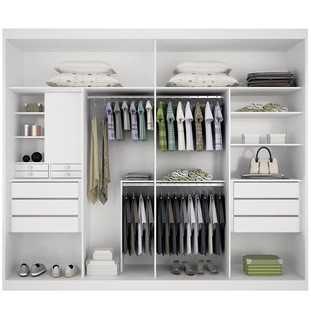 Sugest o para interior de guarda roupas quartos - Que poner encima de una comoda ...