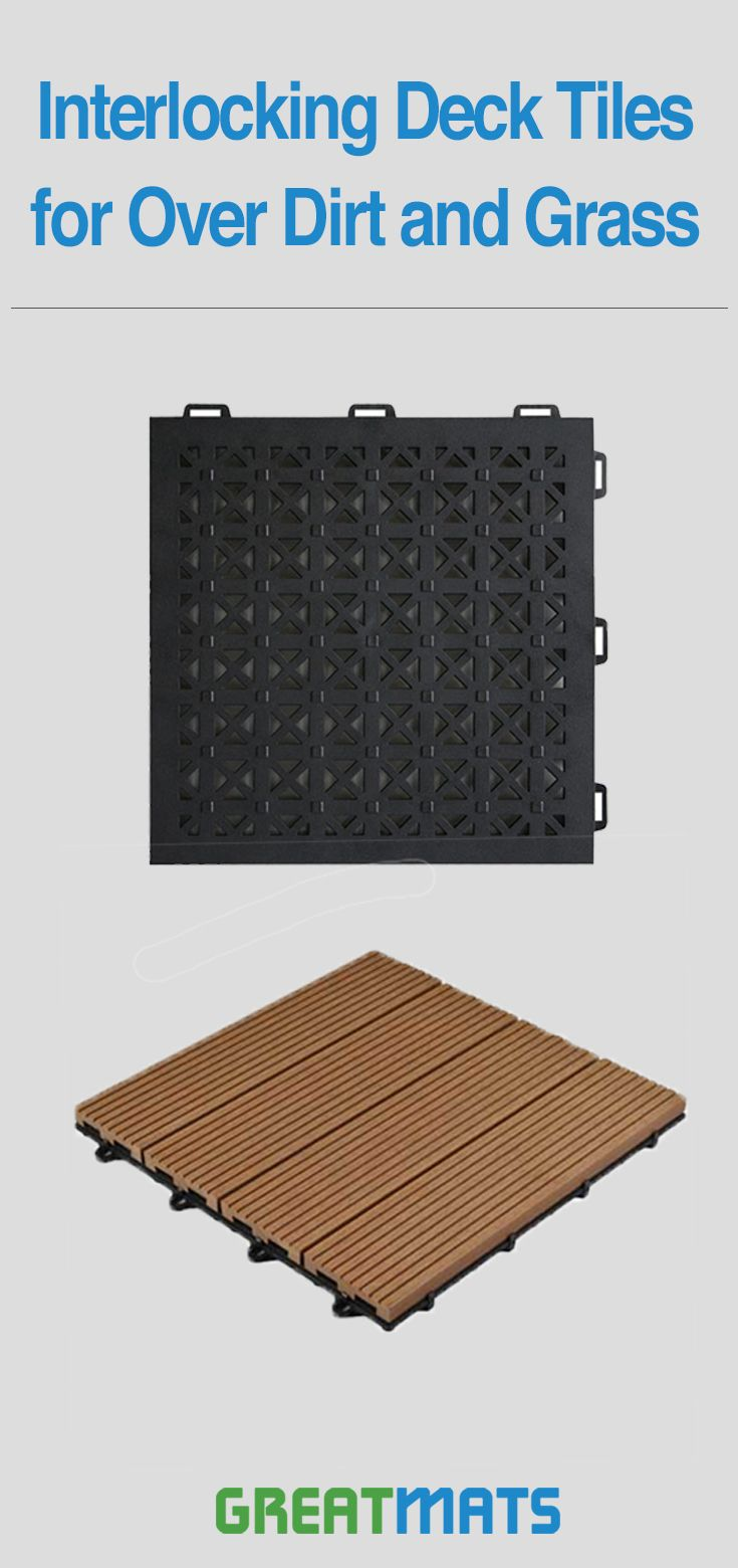 Staylock Tile Perforated Black Patio Flooring Outdoor