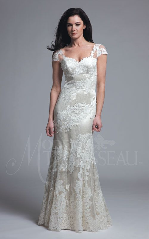 Sage gown by Modern Trousseau Charleston, SC - Stunning lace!