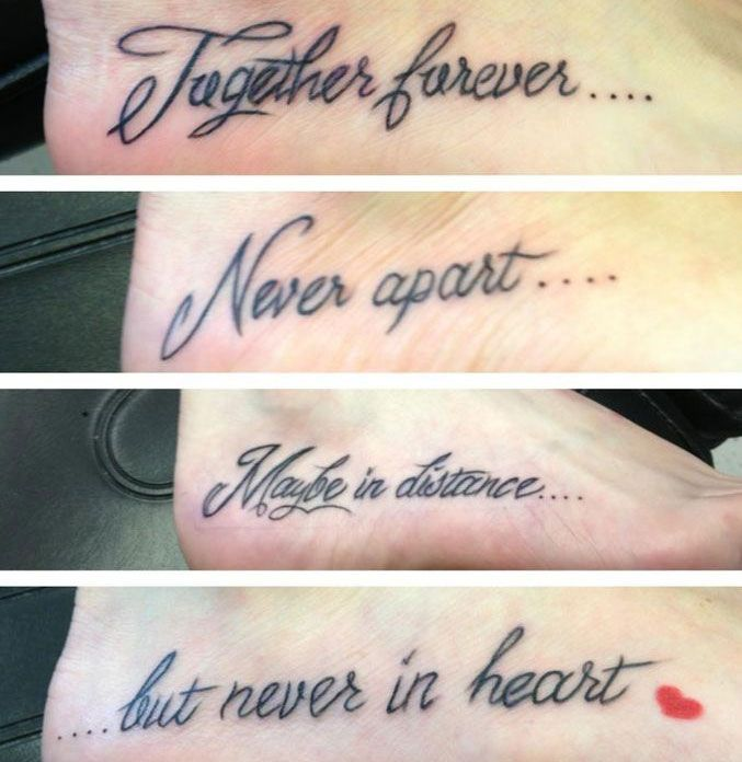 Mother and 3 Daughters Tattoos