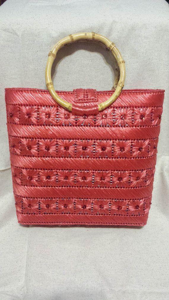 El Original en color rojo Coral brillante un por HelenaSassyBags