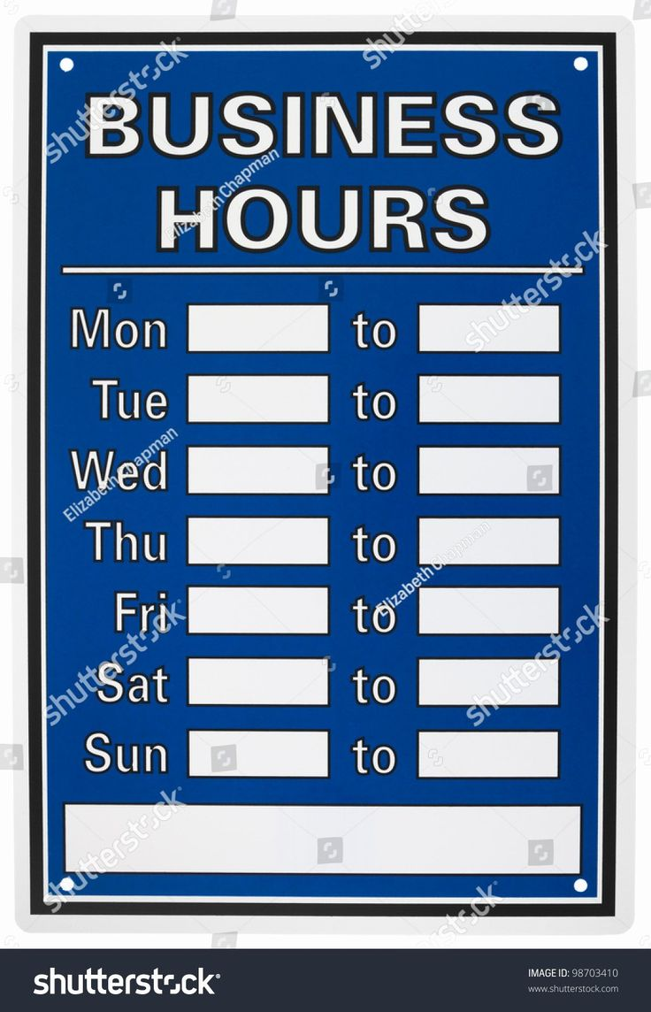 Business Hours Sign Template Unique Business Hours Sign Isolated White Stock Business Hours Sign Sign Templates Templates Office hours sign template free