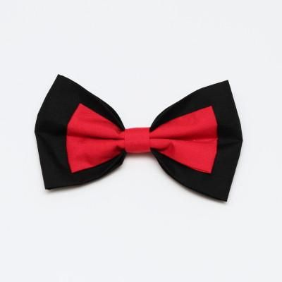 Black and Red Bow Large
