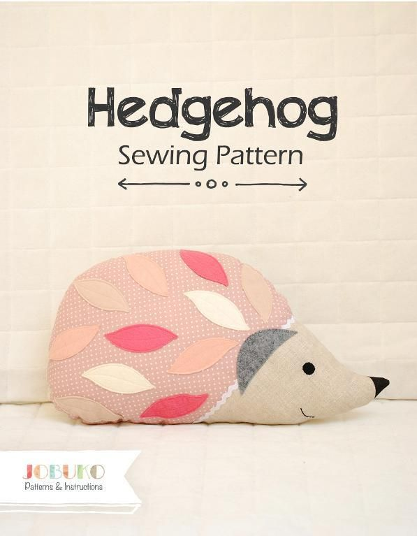 Looking for your next project? You're going to love Hedgehog PDF Sewing Pattern Pillow Stuff by designer Jobuko.