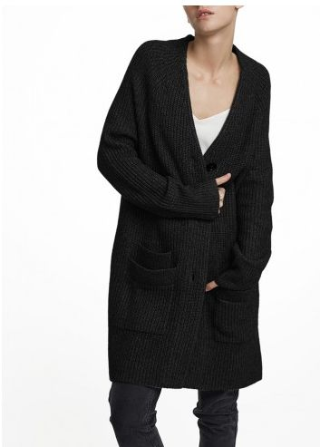 Bundle up in the Luxe Melange Patch Pocket Cardigan