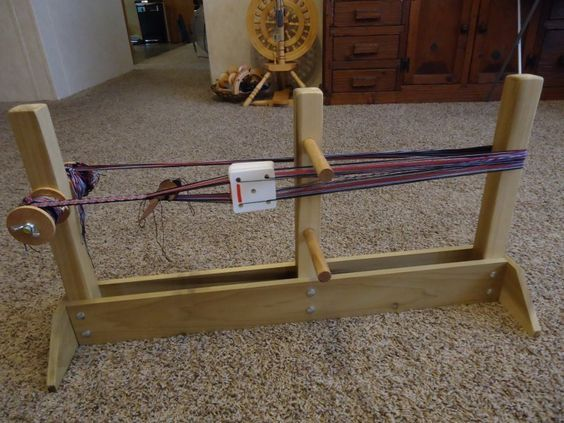 Swedish band loom, table top version, with tablet weaving