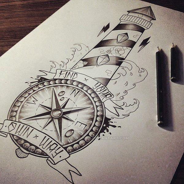 Lighthouse / Compass by EdwardMiller.deviantart.com on @DeviantArt