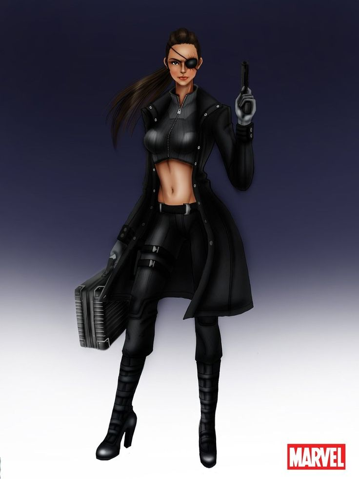 Avengers: Nick Fury Female by ~aerith0808 on deviantART