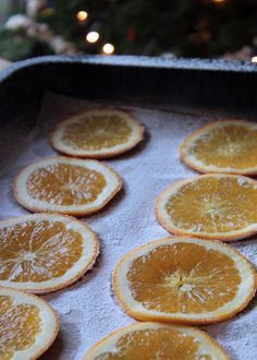 Dried orange slices for decorating!