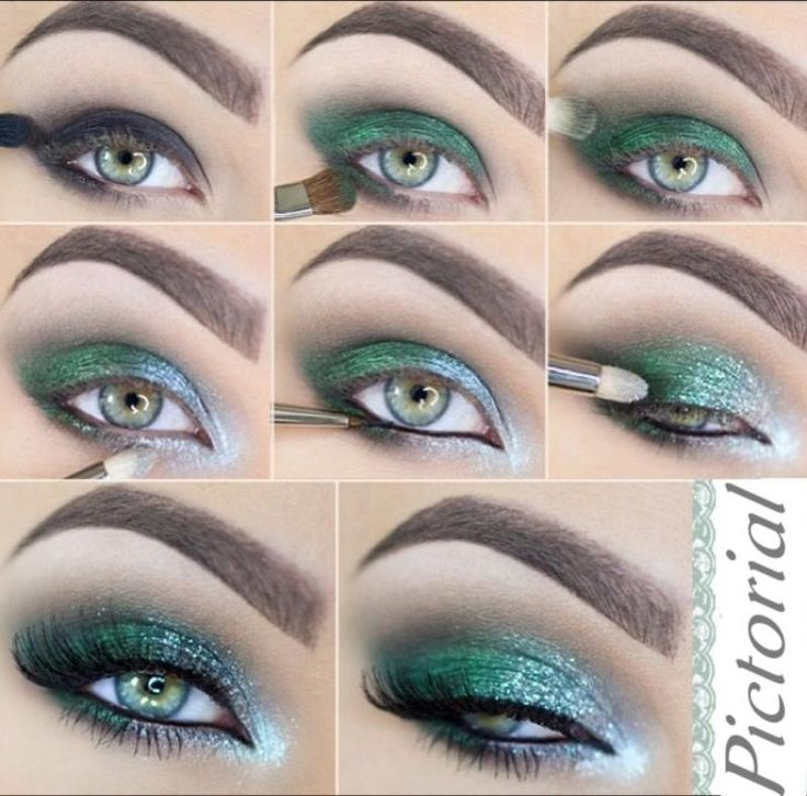 eyeshadow pictorial - Makeup for green eyes... click picture to open link and purchase eyeshadows