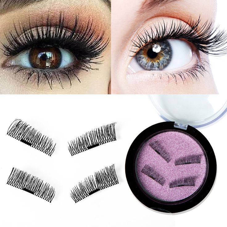 Magnetic False Eyelashes 3D Fake Eyelashes for Natural Look, Ultra Thin Artificial Silk Lashes Glueless, Reusable False Lashes Extension Makeup Accessories with Box, 1 Pairs (4 Pieces)Black1. ❤Natural False Eyelashes: These lashes were made with mink fur by hand, look like your real eyelashes. Ultra-lightweight, you won't feel like you are wearing false lashes at all until you decide to remove them. 1 Pairs (4 Pieces). ❤Waterproof and Reused: This kind of Fake eyelashes is waterproof and…