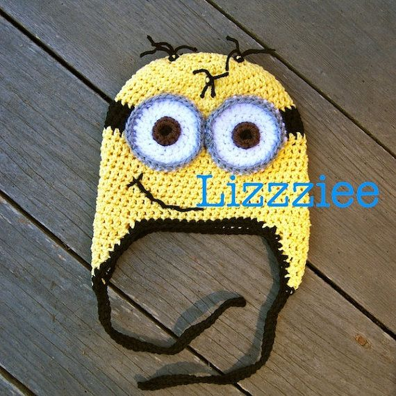 Minion hat crochet pattern  despicable me  Easy  by lizzziee, $3.99Ideas, Hats Easy, Crochet Hats Pattern, Minions Hats, Hat Patterns, Minions Crochet, Crochet Minions, Knits, Crafts